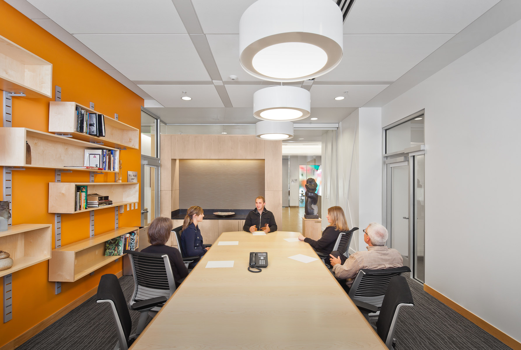 RB+B Architects' Rialto Theater renovation in Loveland, CO conference room