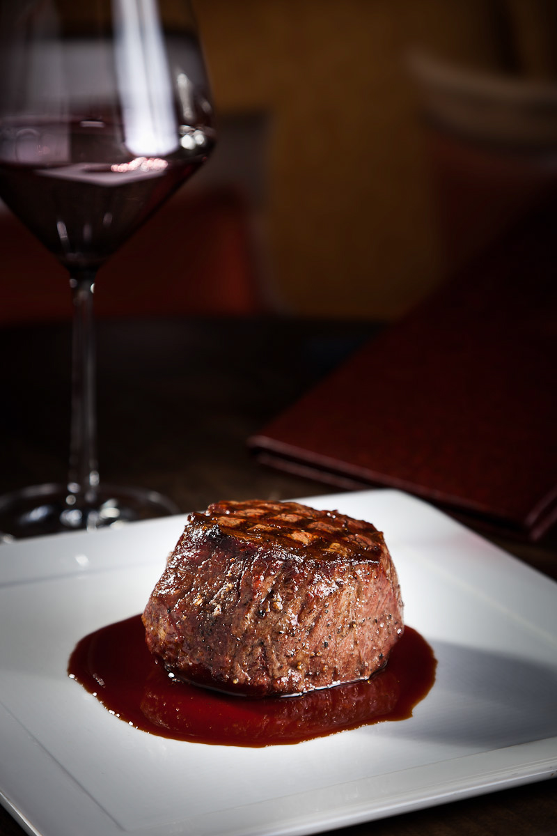 Ten ounce filet mignon served a la carte at Hideaway Steakhouse in Westminster, CO