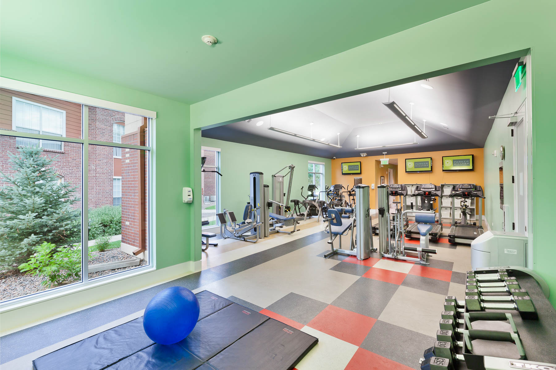 Parker HIlltop Apartments Fitness Center shot on location in Parker Colorado