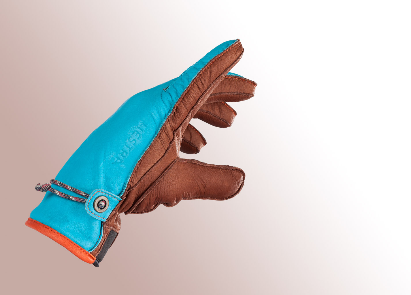 Hestra glove on solid white background for editorial use.